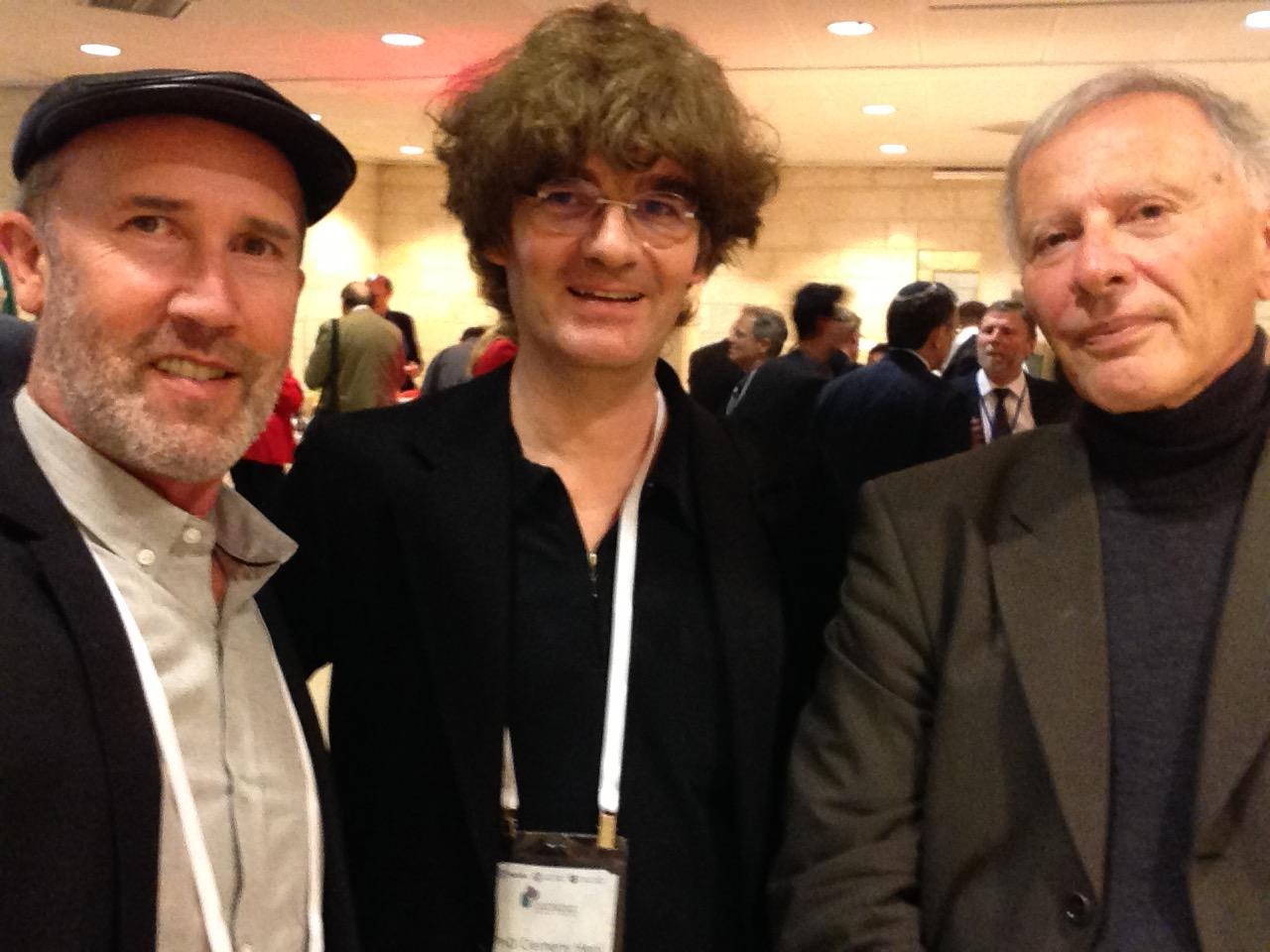 Robert Wistrich Clemens Heni Perry Trotter May 14, 2015, Jerusalem